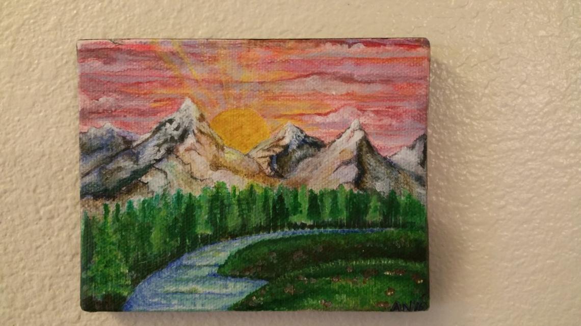 small mountain landscape